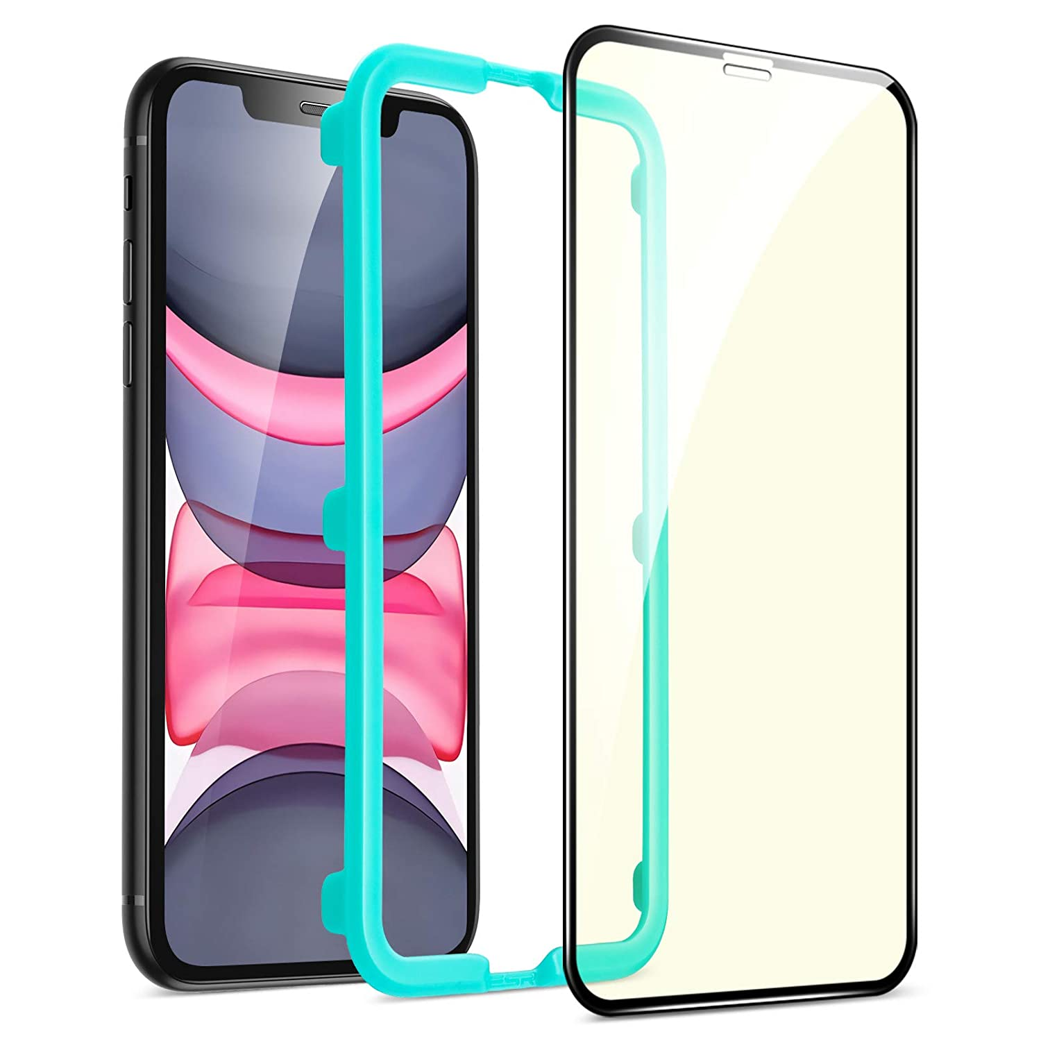 ESR Premium Quality Full Cover Anti Blue Light, Eye Protection Tempered Glass iPhone XR/11 (4894240067925)