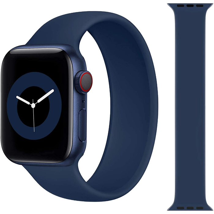 Stoband Hera Solo Loop Midnight Blue Λουράκι Apple Watch 42mm & 44mm (Size: M)